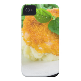 Nuggets of chicken, mashed potatoes and green bean Case-Mate iPhone 4 case