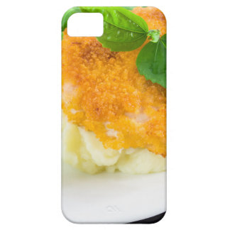 Nuggets of chicken, mashed potatoes and green bean iPhone 5 cover