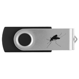 Nuisance Mosquito insect/bug pest Silhouette Swivel USB 2.0 Flash Drive