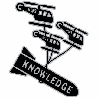 Nuke Knowledge Standing Photo Sculpture