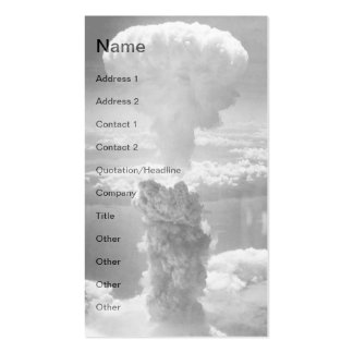NUKE Nuclear A-Bomb MOST POWERFUL Business Cards