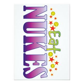 Nukes Eat 14 Cm X 19 Cm Invitation Card