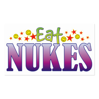 Nukes Eat Pack Of Standard Business Cards