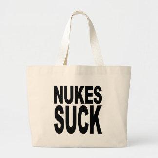 Nukes Suck Jumbo Tote Bag