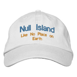 Null Island Embroidered Hat