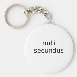 nulli secundus second to none basic round button key ring