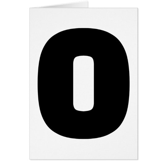 Number 0 zero card