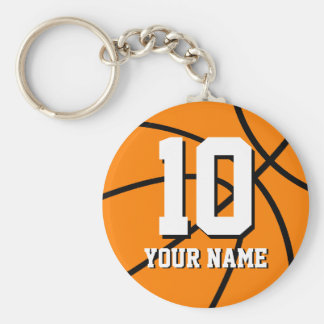 Number 10 basketball keychains Personalizable