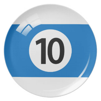Number 10 billiard or pool ball novelty plate