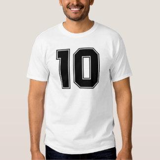 Number 10 frontside print tshirts