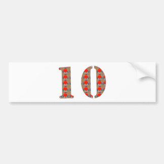Number 10 TEN Birthday Anniversary  REMEMBERANCE Bumper Sticker