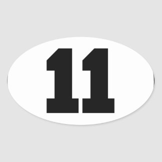 Number 11 Circle Oval Sticker