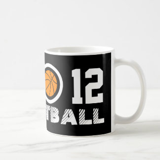 Number 12 basketball coffee mug | Personalizable