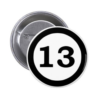 Number 13 button