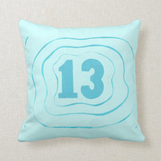 Number 13 Water Ripples Pattern Pillows