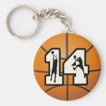 Number 14 Basketball and Players Keychain