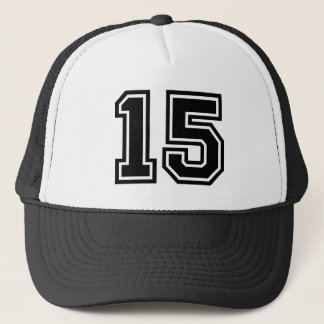 Number 15 Classic Trucker Hat