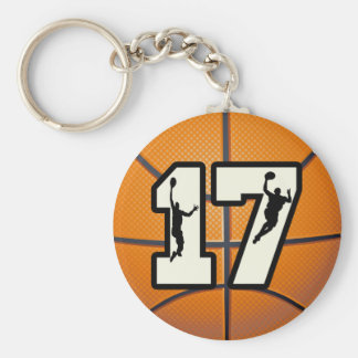Number 17 Basketball and Players Key Ring