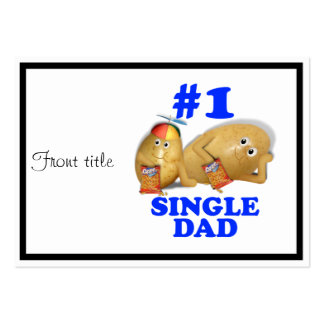 Number 1 (#1) Single Dad - Father & Son Potatoes Pack Of Chubby Business Cards