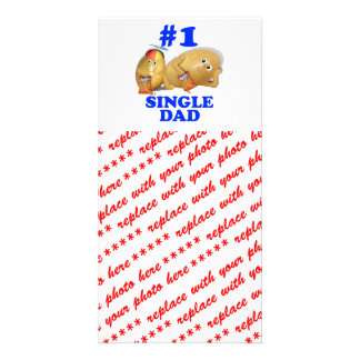 Number 1 (#1) Single Dad - Father & Son Potatoes Photo Cards