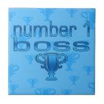 Number 1 Boss in Blue Ceramic Tiles
