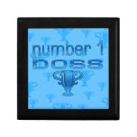 Number 1 Boss in Blue Jewelry Boxes