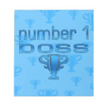 Number 1 Boss in Blue Note Pad