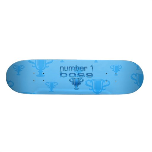 Number 1 Boss in Blue Skate Deck