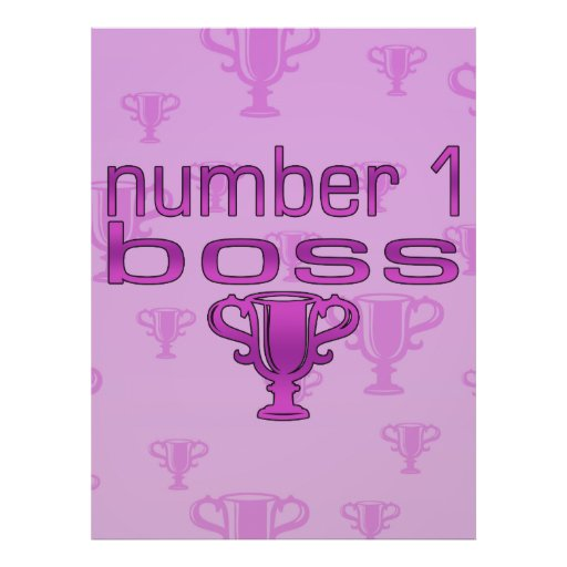 Number 1 Boss in Pink Posters