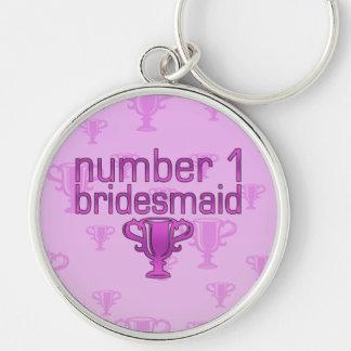 Number 1 Bridesmaid Keychain