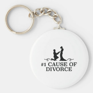 Number 1 Cause Of Divorce Key Ring