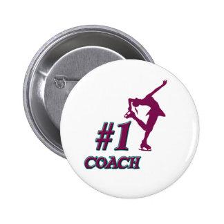 Number #1 Coach 6 Cm Round Badge