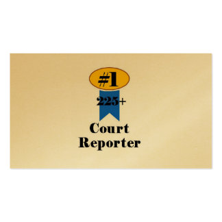 Number 1 Court Reporter Pack Of Standard Business Cards