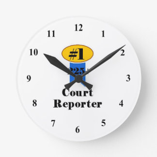 Number 1 Court Reporter Clock