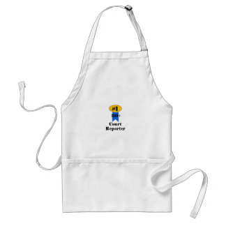 Number 1 Court Reporter Standard Apron