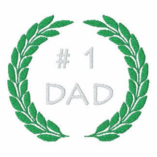 Number 1 Dad Embroidered Polo Shirt
