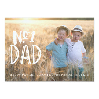 NUMBER 1 DAD | FATHERS DAY CARD 13 CM X 18 CM INVITATION CARD