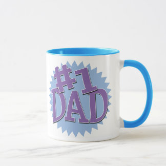 Number 1 Dad Ringer Mug