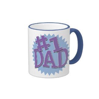 Number 1 Dad Ringer Mug
