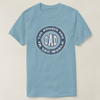 Number 1 Dad T-Shirt Distressed