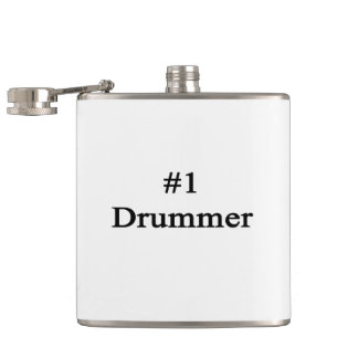 Number 1 Drummer Hip Flask