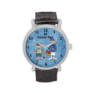 Number #1 Fishing Dad Wrist Watch