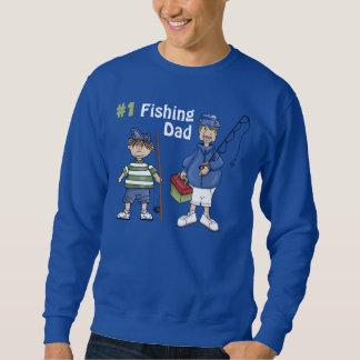 Number #1 Fishing Dad Sweatshirt