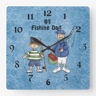 Number #1 Fishing Dad Wall Clocks