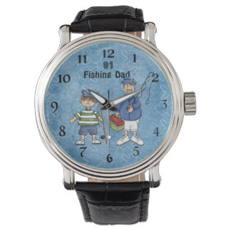 Number #1 Fishing Dad Wristwatch