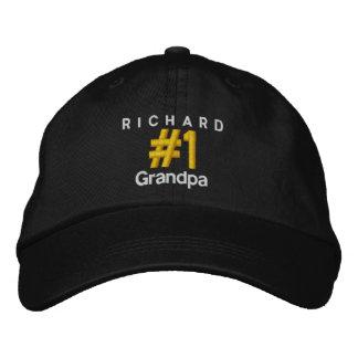 Number 1 GRANDPA Personalized Adjustable Hat V06D