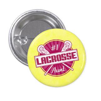 Number 1 Lacrosse Aunt Button