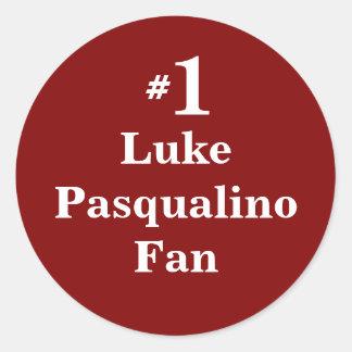 Number 1 Luke Pasqualino Fan Classic Round Sticker