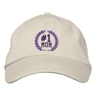 Number 1 MOM All Star Laurels Embroidery Embroidered Hat