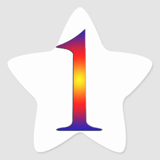 Number 1 star sticker